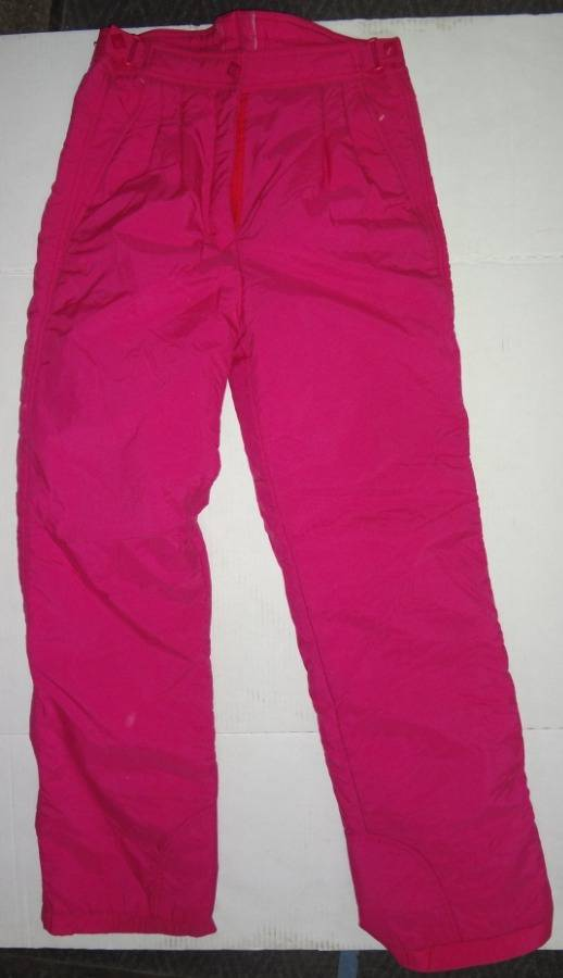 Nice Pair Of Girls Vintage Hot Pink Snow Pants Size 12 Europa Adjustable Snap Waistband Very Good Condition Auction 1bid